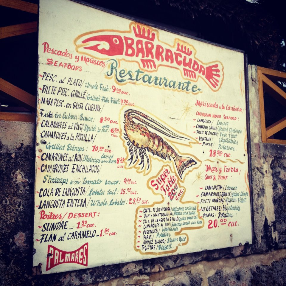 cuban menu