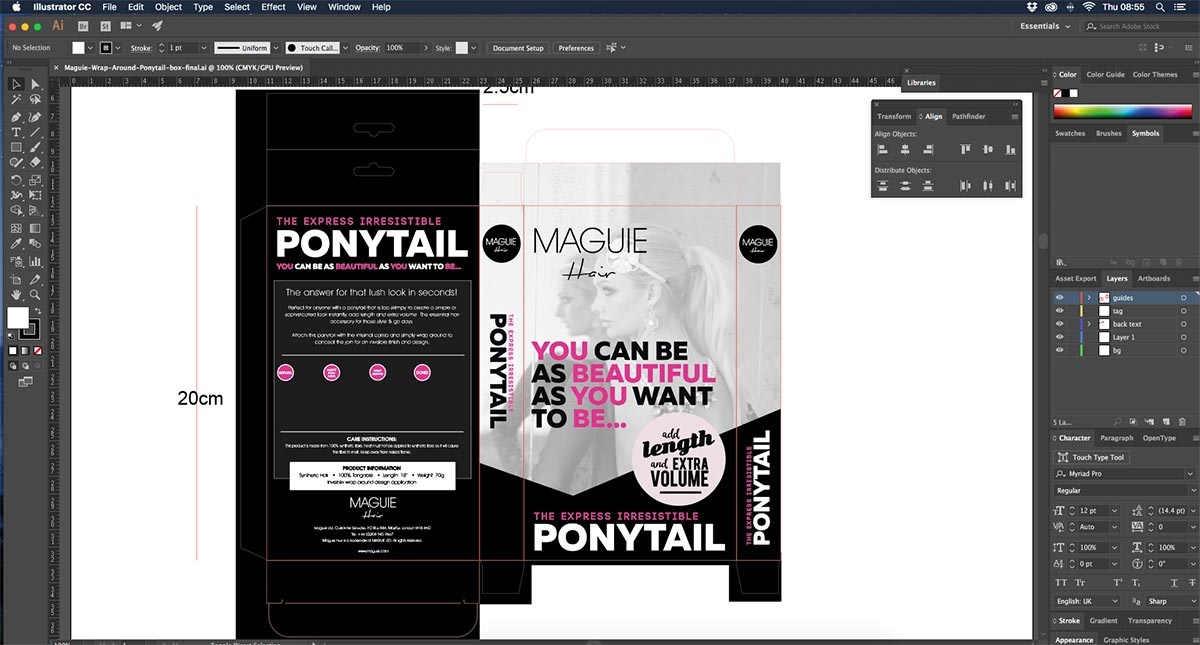 hair-extensions-packaging-design-in-adobe-illustrator