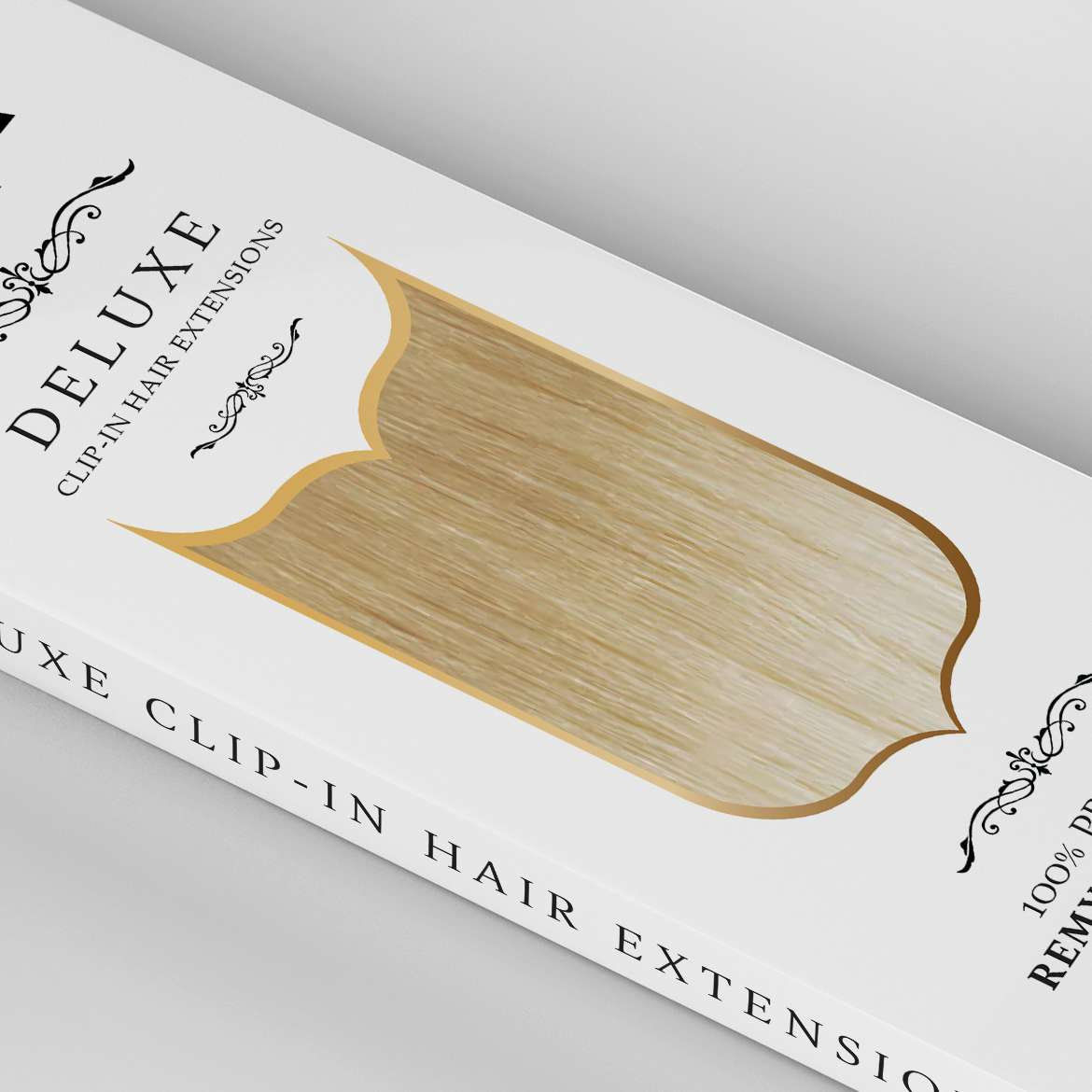 deluxe-clip-in-hair-extensions-packaging-design-remy-angled-close-up