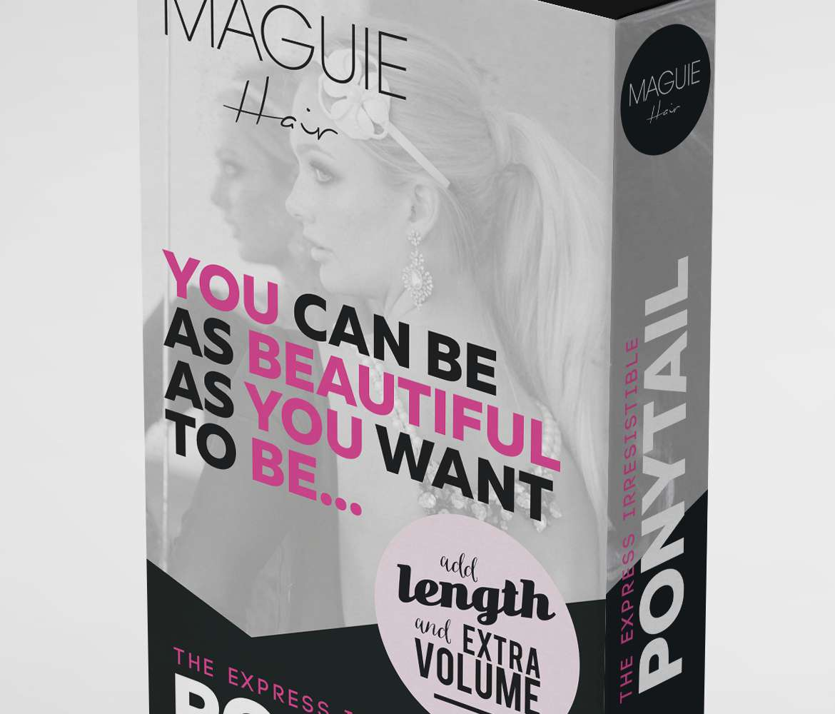 wraparound-ponytail-hair-extensions-box-packaging-design-maguie-main-close-up