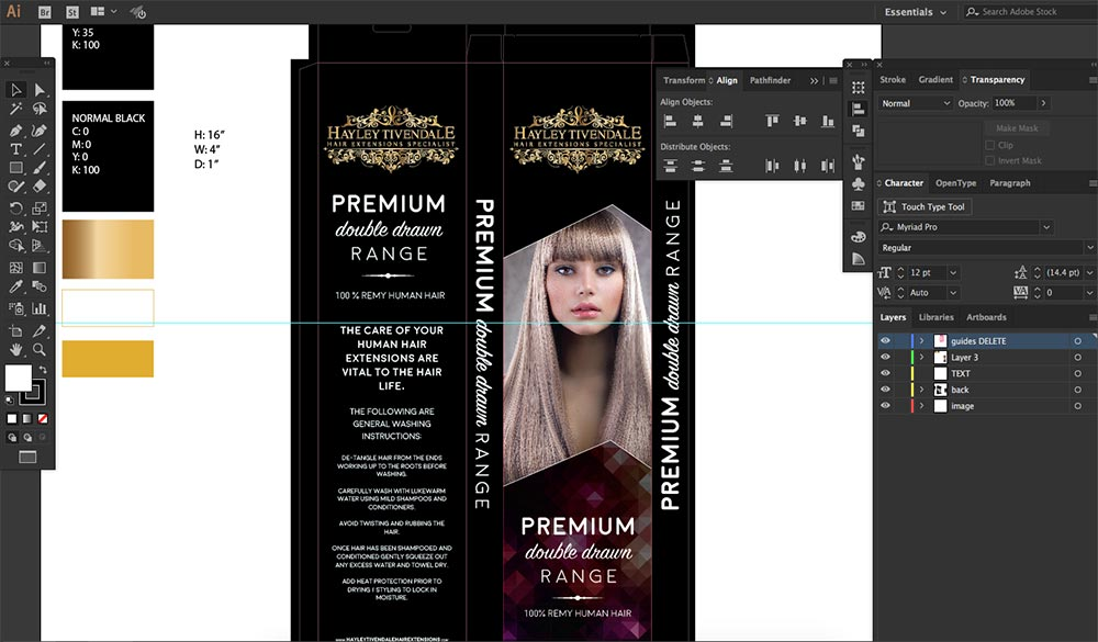 final box package design for hayley tivendale