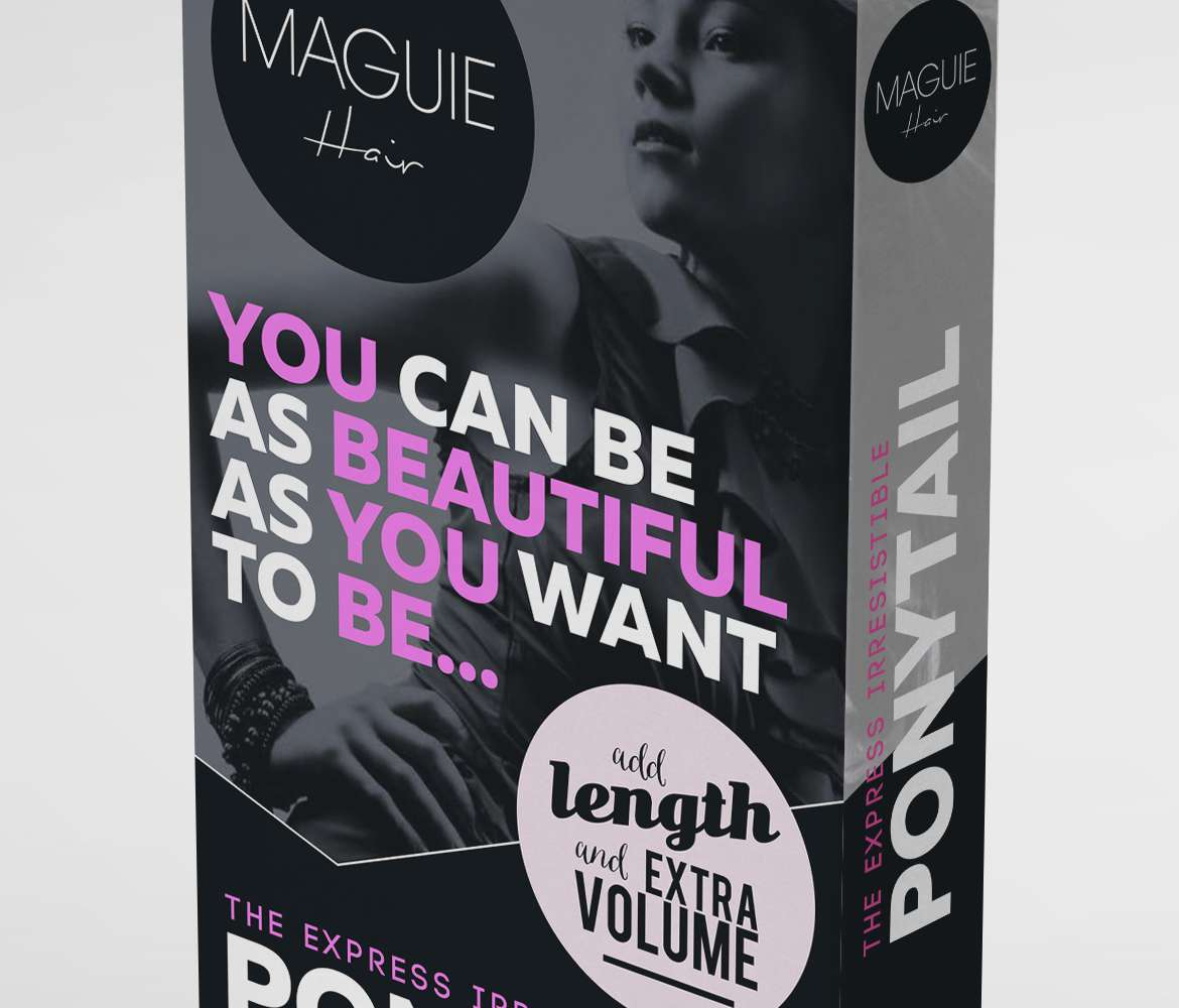 wraparound-ponytail-hair-extensions-box-packaging-design-maguie-alternate-close-up