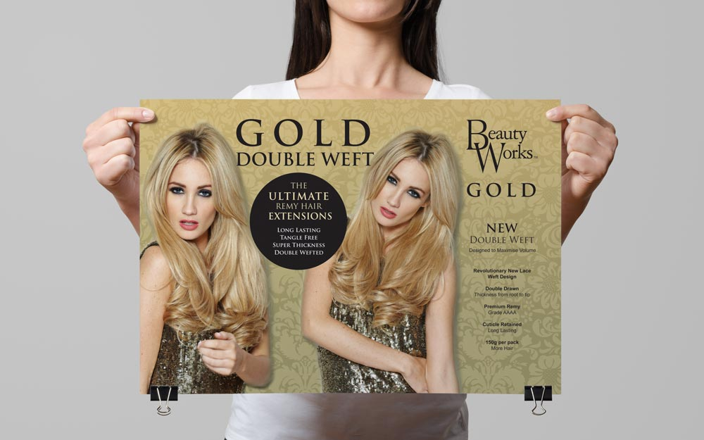 hair-extensions-beauty-works-gold-poster-flyer-print-advertising-design
