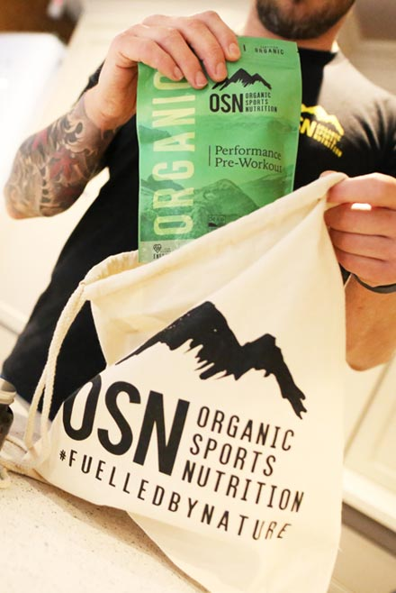 Organic Sports Nutrition Packaging and branding designer
